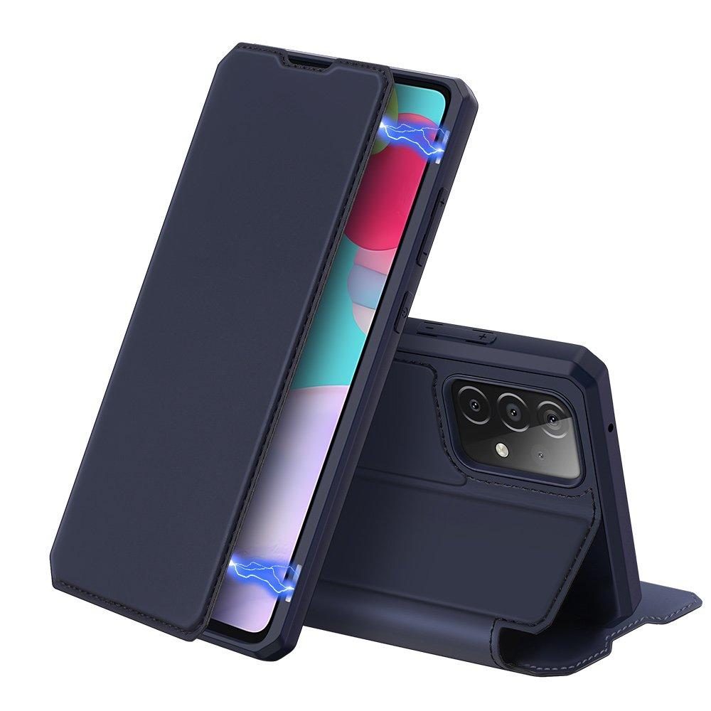 Flipové pouzdro Dux Ducis skin na Samsung Galaxy A52 5G / A52 4G , modrá 6934913053386