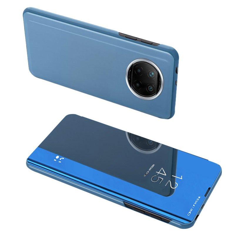 Knižkove púzdro pre Xiaomi Redmi Note 9T 5G s priehľadnou prednou stranou blue