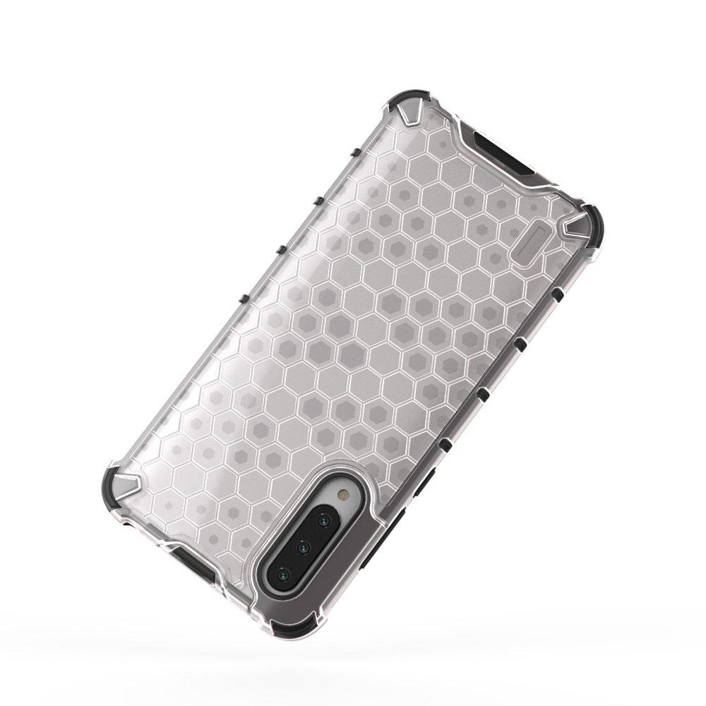 Honeycomb panceřové pouzdro se silikonovým rámem pro Xiaomi Mi CC9e / Xiaomi Mi A3 transparent