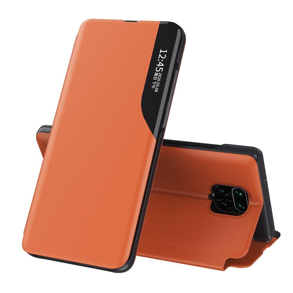 Knížkové pouzdro s imitací kůže na Xiaomi Redmi Note 9 Pro / 9S orange