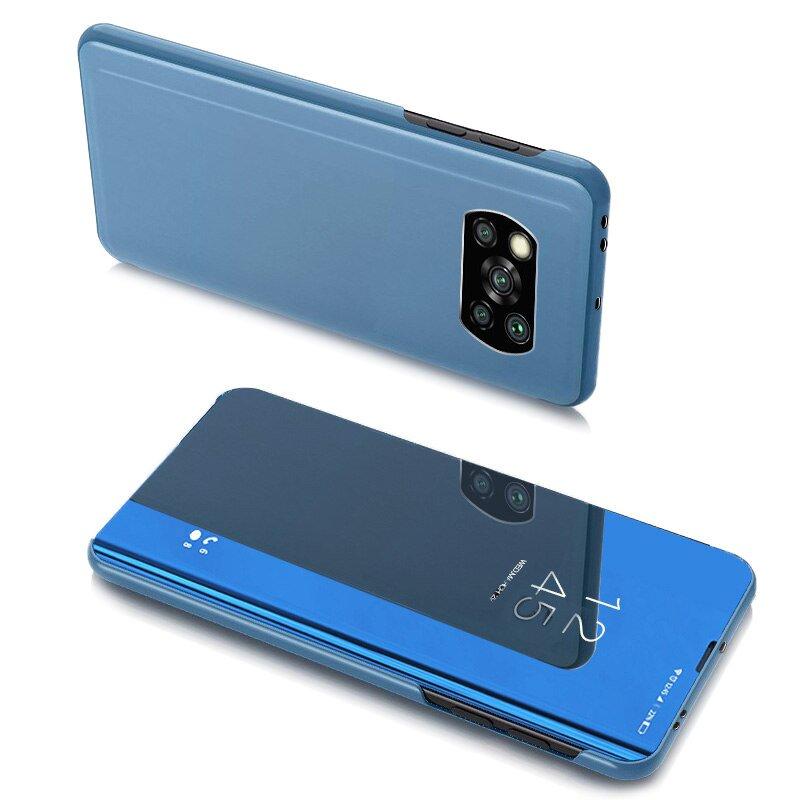 Knížkové pouzdro na Xiaomi Poco X3 Pro / X3 NFC s průhlednou přední stranou blue