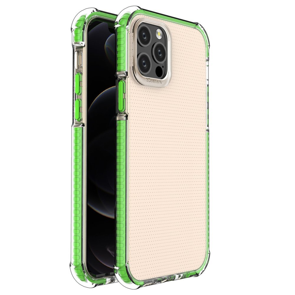 "Spring Armor silikonové pouzdro s barevným lemem na iPhone 12 / 12 Pro 6,1"" green"