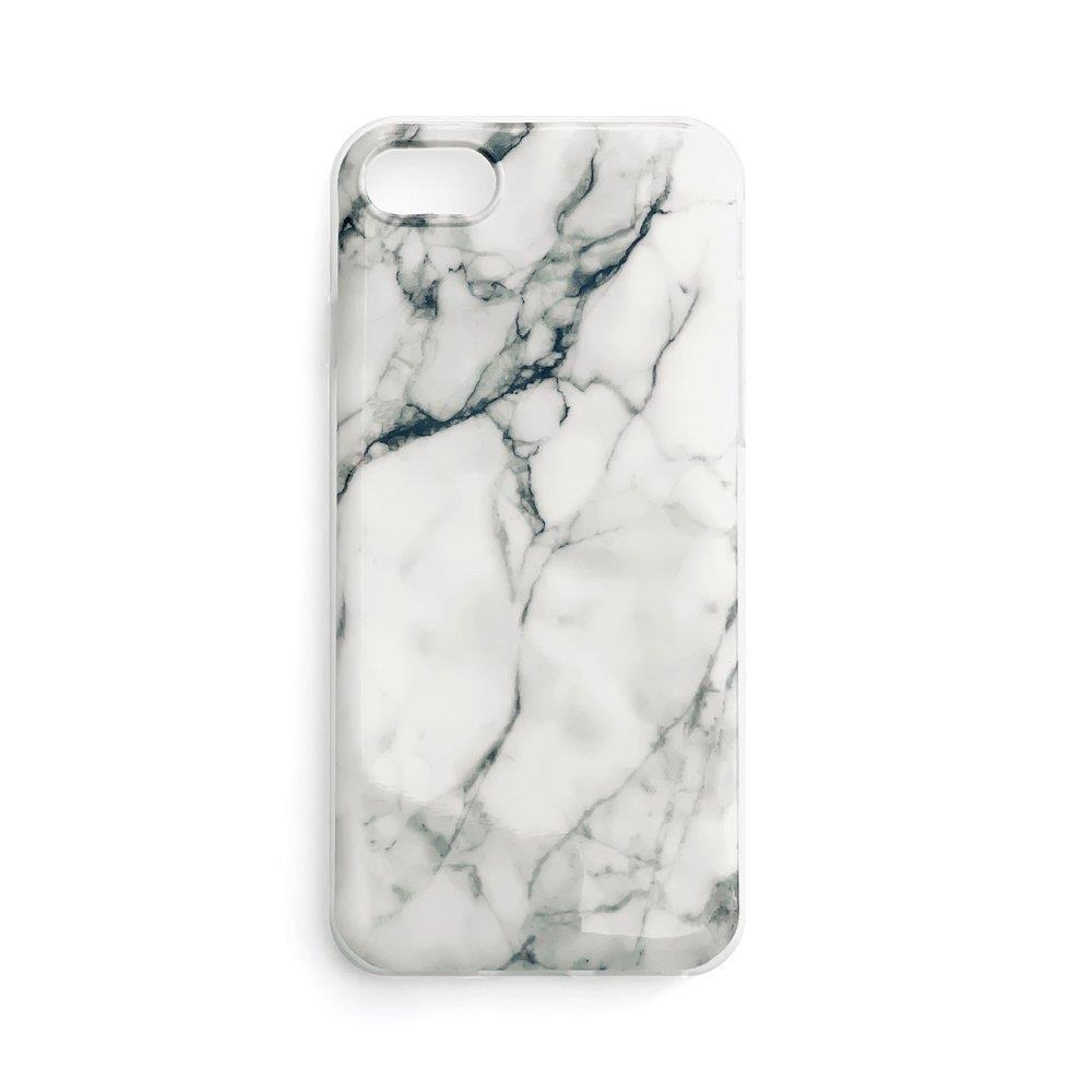 Zadní silikonový kryt na mobil Marble pro Samsung Galaxy A12 / Galaxy M12 bílá 9111201923966
