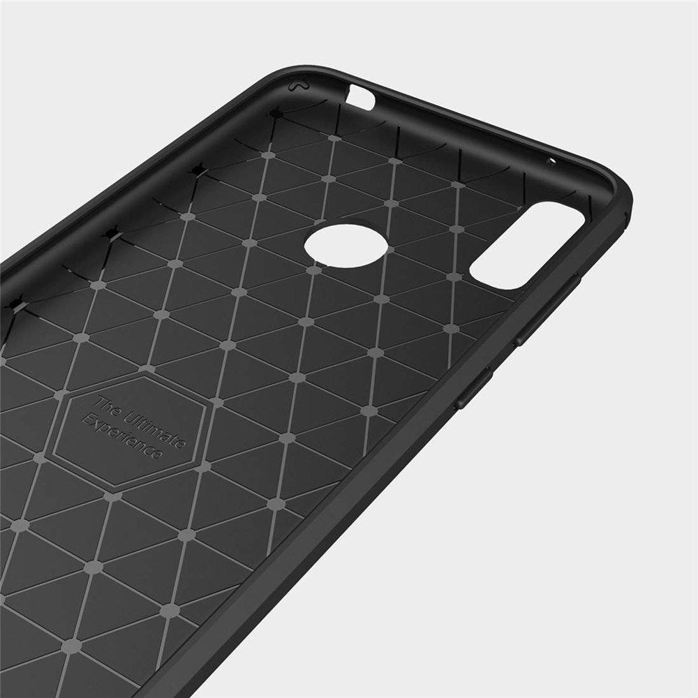 Carbon silikonové pouzdro Huawei Y6 2019 blue
