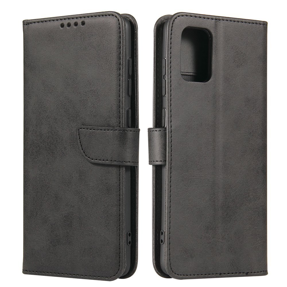 Kožené flipové pouzdro Magnet Case pro  Samsung Galaxy A71 , černá 9111201921603