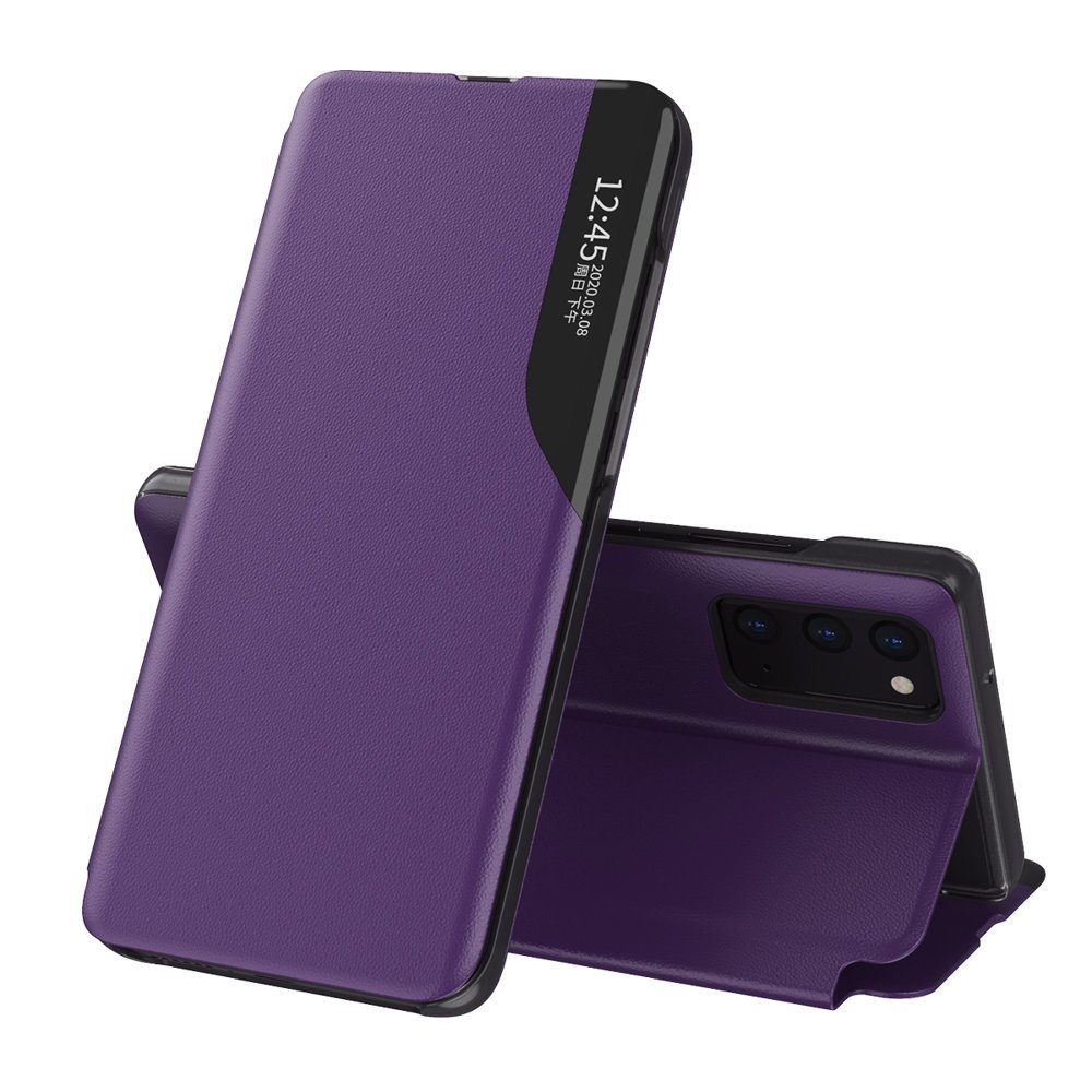 Knížkové puzdro s imitáciou kože pre Samsung Galaxy A72 purple