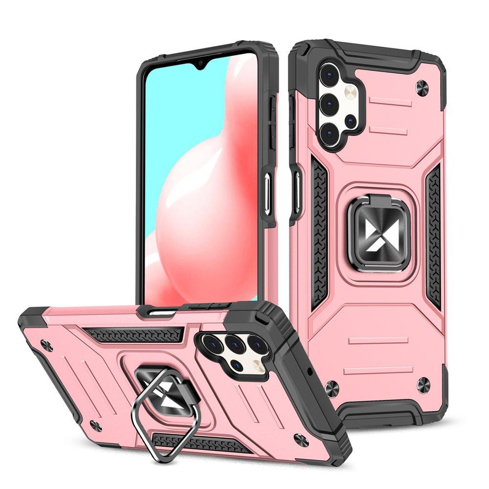 Wozinsky Hybrid pancierové púzdro s krúžkom pre Samsung Galaxy A32 4G pink