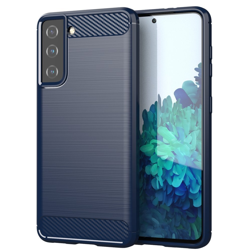Carbon silikónové puzdro naSamsung Galaxy S21 FE 5G blue
