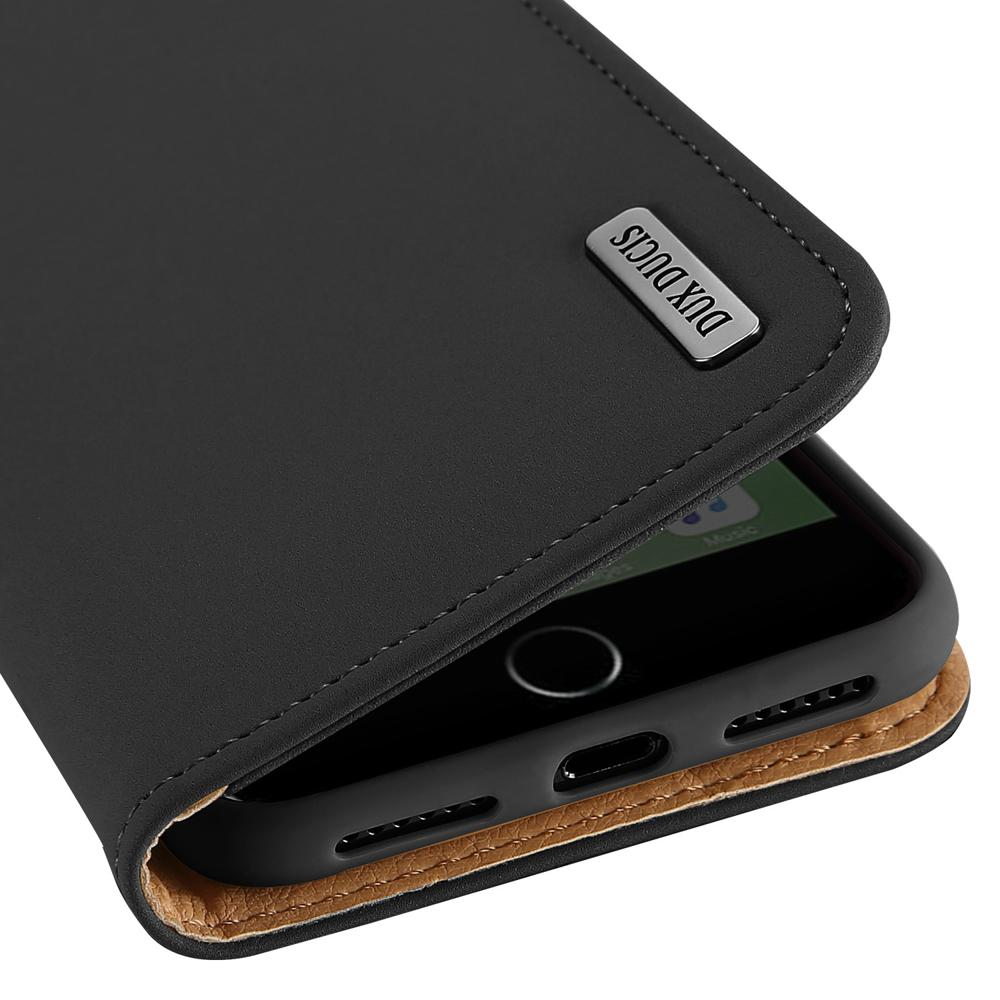 DUX DUCIS Wish kožené pouzdro pro iPhone SE 2020 / 8 / 7 black