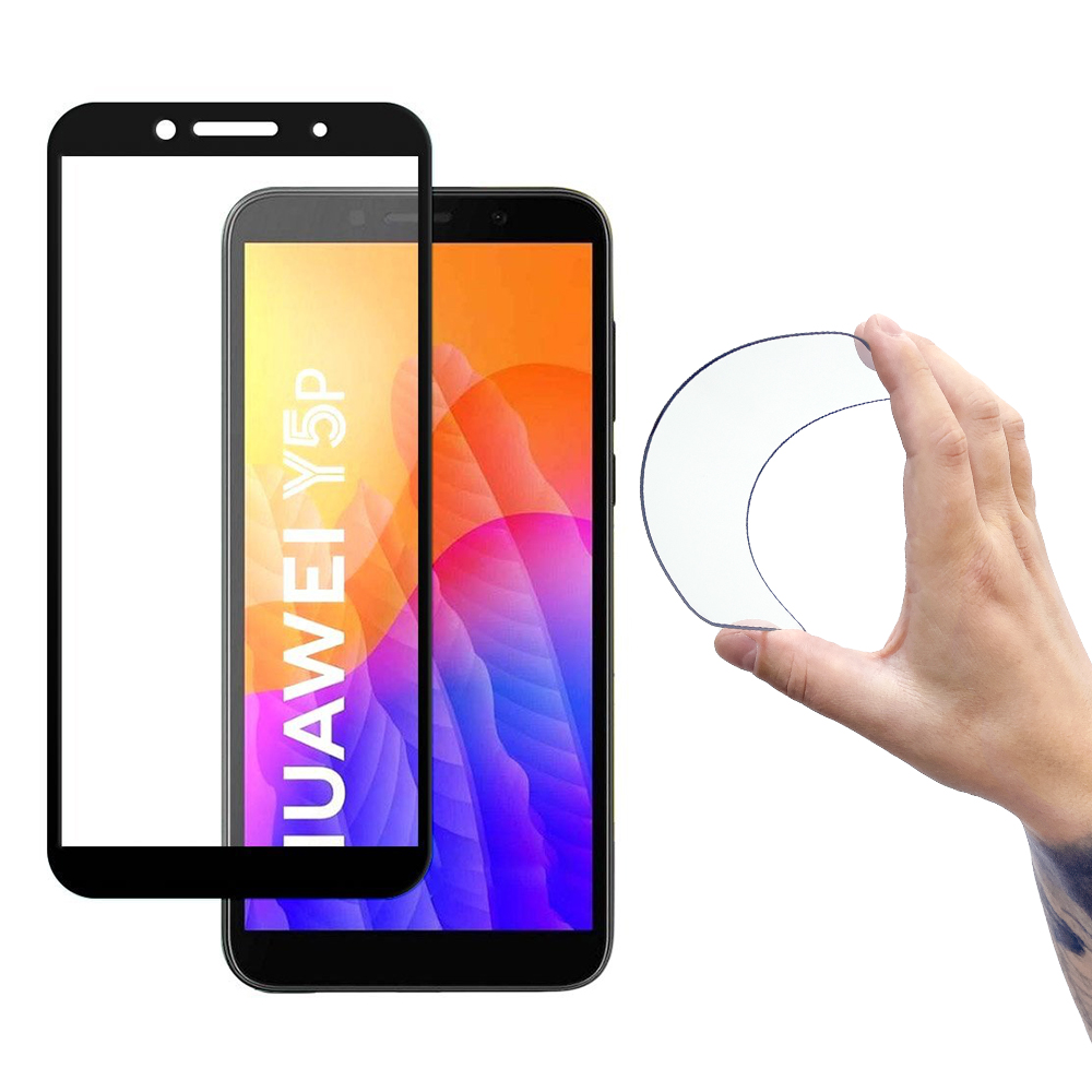Wozinsky Celoplošné Flexi Nano Hybrid tvrzené sklo 9H na Huawei Y5p black