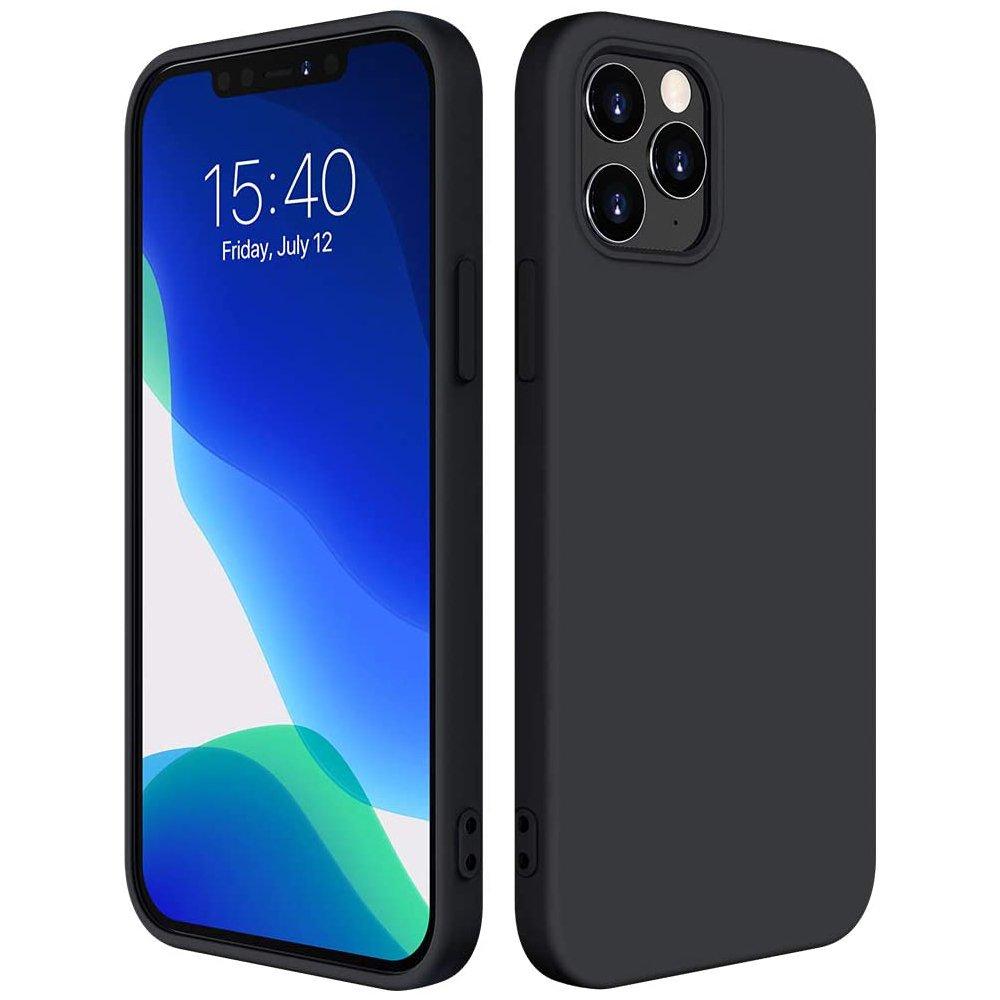 "Silikónové púzdro LUX na iPhone 12 Mini 5,4"" black"