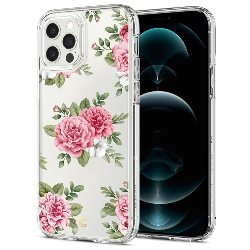 Spigen Cyrill Cecile silikonové pouzdro na iPhone 12 / 12 Pro Pink Floral