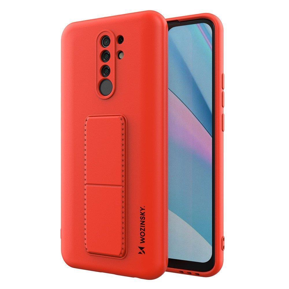 Wozinsky Flexibilní silikonové pouzdro se stojánkem na Xiaomi Redmi 9 red