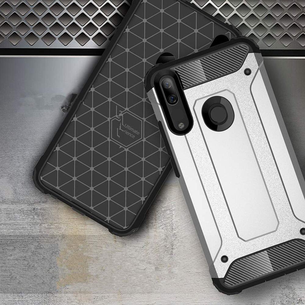 Hybrid pancierové polykarbonátové púzdro pre Huawei P Smart Z black