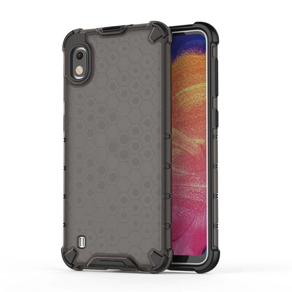 Honeycomb pancéřové pouzdro se silikonovým  rámem pro Samsung Galaxy A10 black