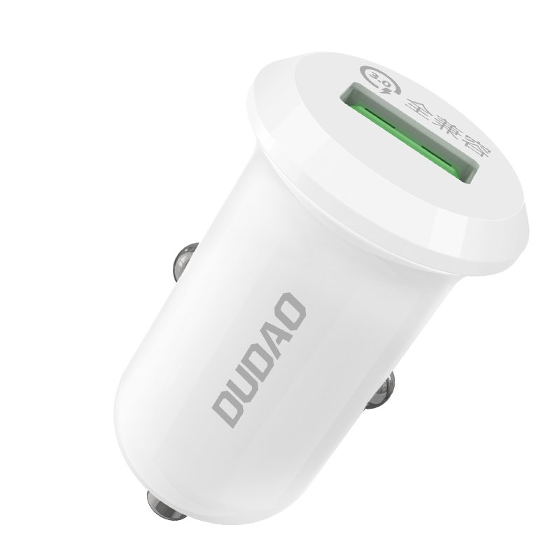 CL adaptér Dudao R4 1 x USB Quick Charge 3.0 4A 15W white