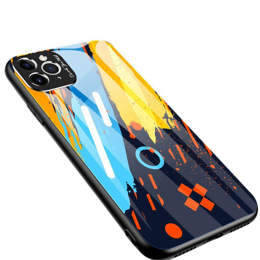 Color Glass kryt z tvrzeného skla 9H + ochrana fotoaparátu na iPhone 11 Pro Max pattern 1