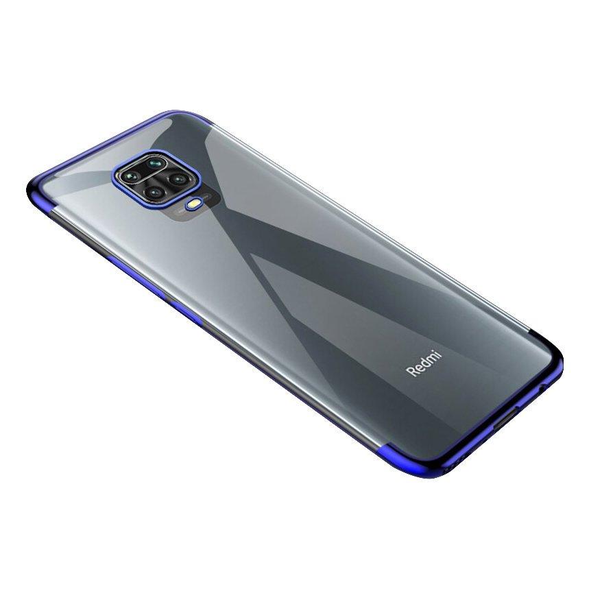 Gelové pouzdro s metalickým rámečkem pro Xiaomi Redmi 10X 4G / Xiaomi Redmi Note 9 , modrá 9111201910249