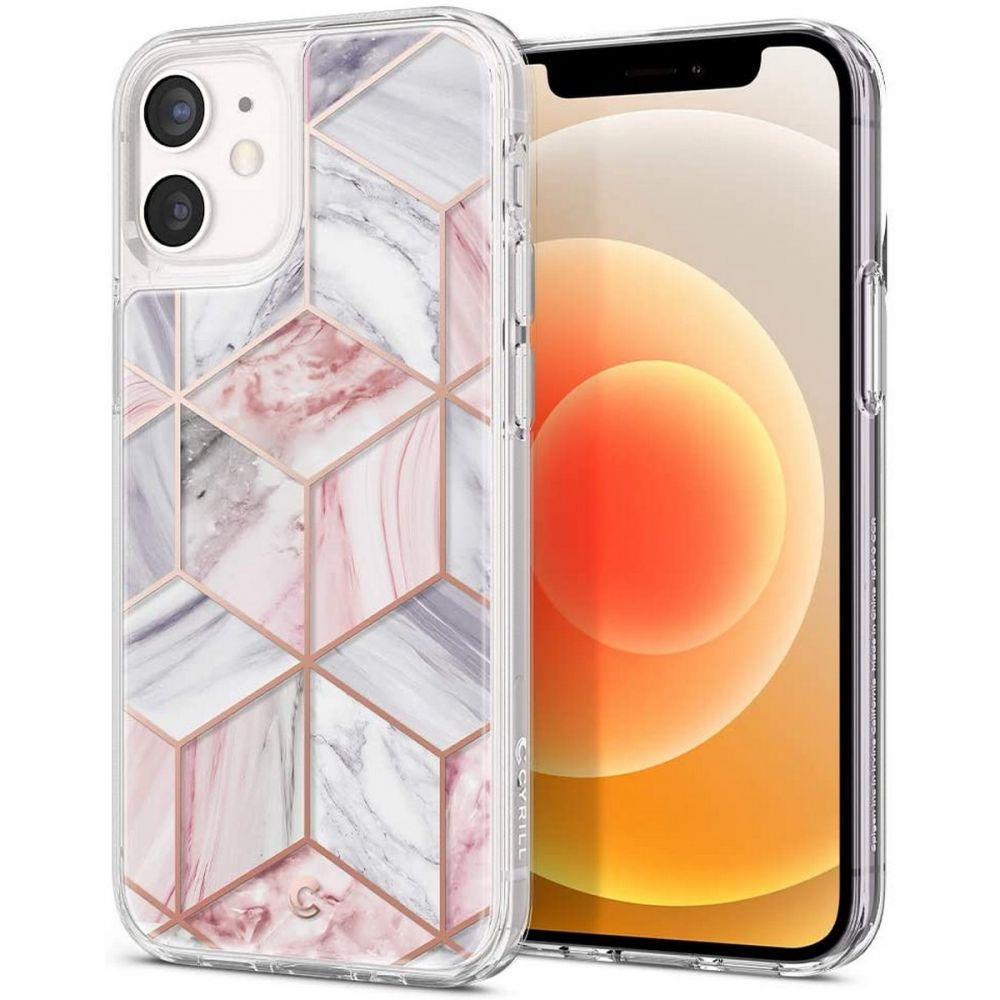 "Spigen Cyrill Cecile silikonové pouzdro na iPhone 12 Mini 5.4"" Pink Marble"
