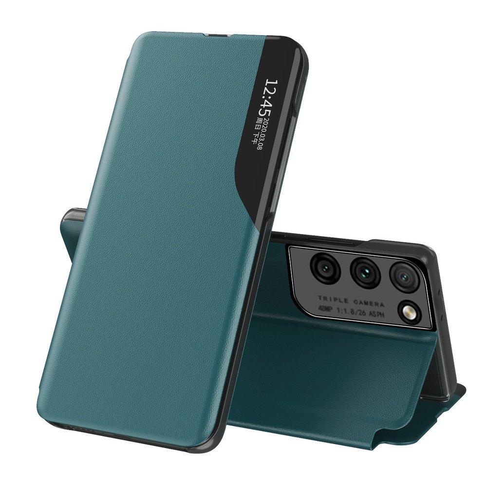 Flipové pouzdro Eco Leather View Case Samsung Galaxy S21 Ultra 5G , zelená 9111201925151