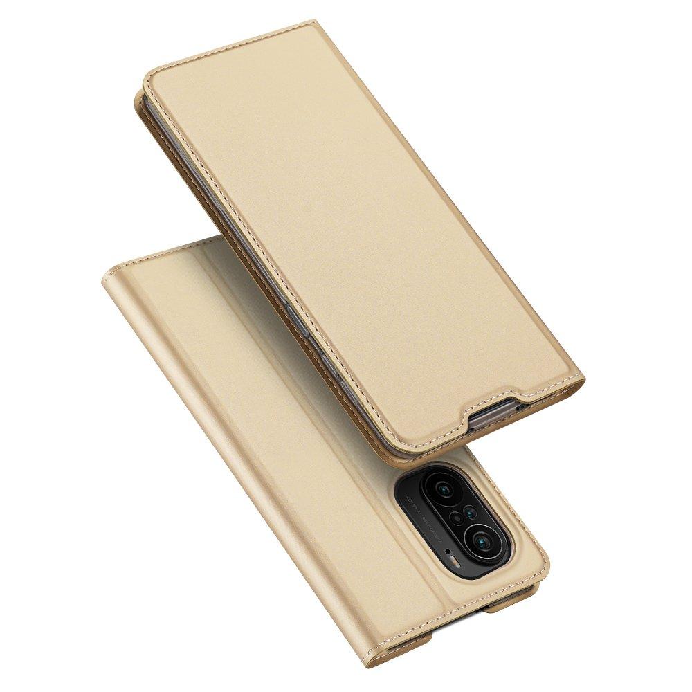 Flipové pouzdro Dux Ducis skin Xiaomi Redmi K40 Pro+ / K40 Pro / K40 / Poco F3 ,zlatá