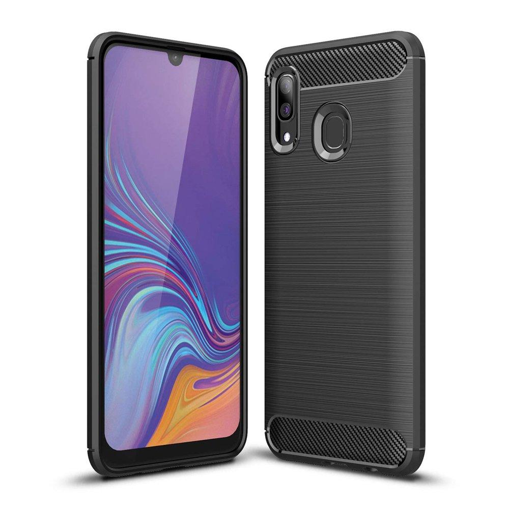 Carbon silikonové pouzdro Samsung Galaxy A40 black