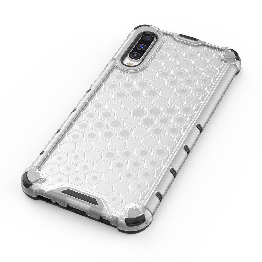 Honeycomb pancéřové pouzdro se silikonovým rámem pro Samsung Galaxy A50 black