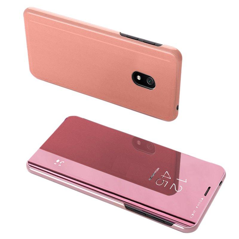 Knížkové pouzdro na Xiaomi Redmi 8A s průhlednou přední stranou pink