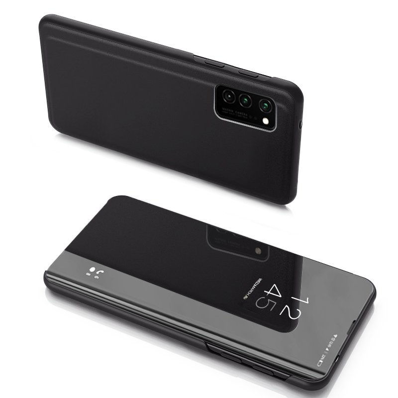 Knižkove púzdro pre Samsung Galaxy Note 20 Ultra s priehľadnou prednou stranou black