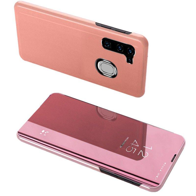 Knižkove púzdro pre Samsung Galaxy A11 / Galaxy M11 s priehľadnou prednou stranou pink