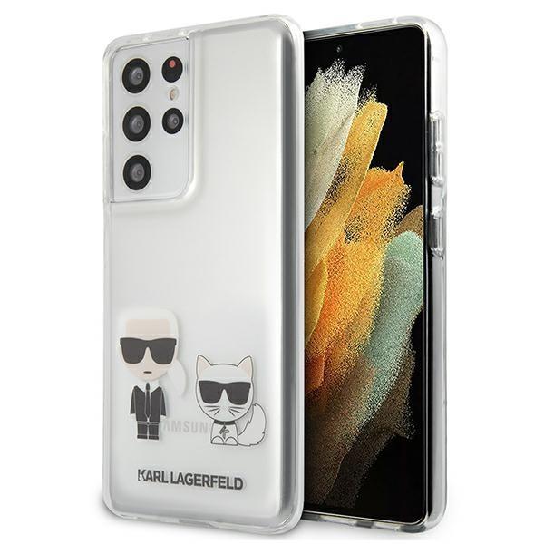 Karl Lagerfeld KLHCS21LCKTRhard silikónové púzdro Samsung Galaxy S21 ULTRA 5G transparent Karl & Choupette