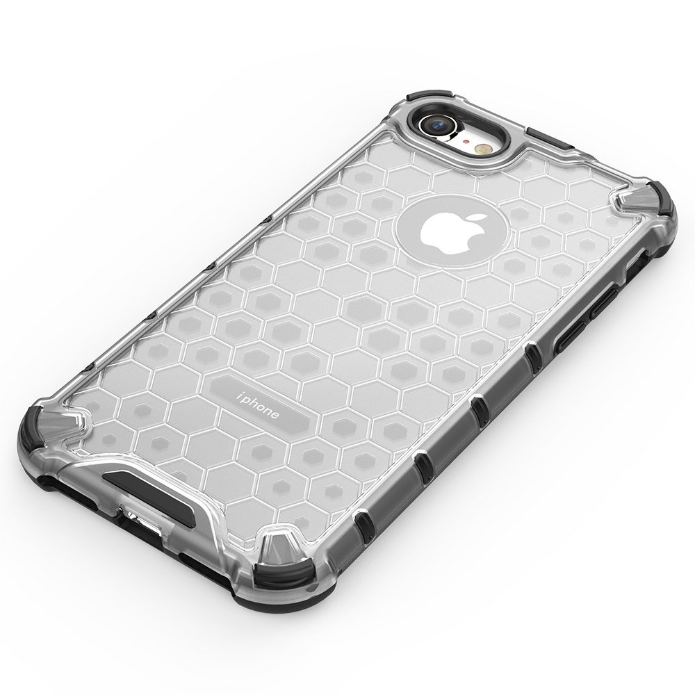 Honeycomb pancéřové pouzdro se silikonovým rámem pro iPhone 8 / iPhone 7 black
