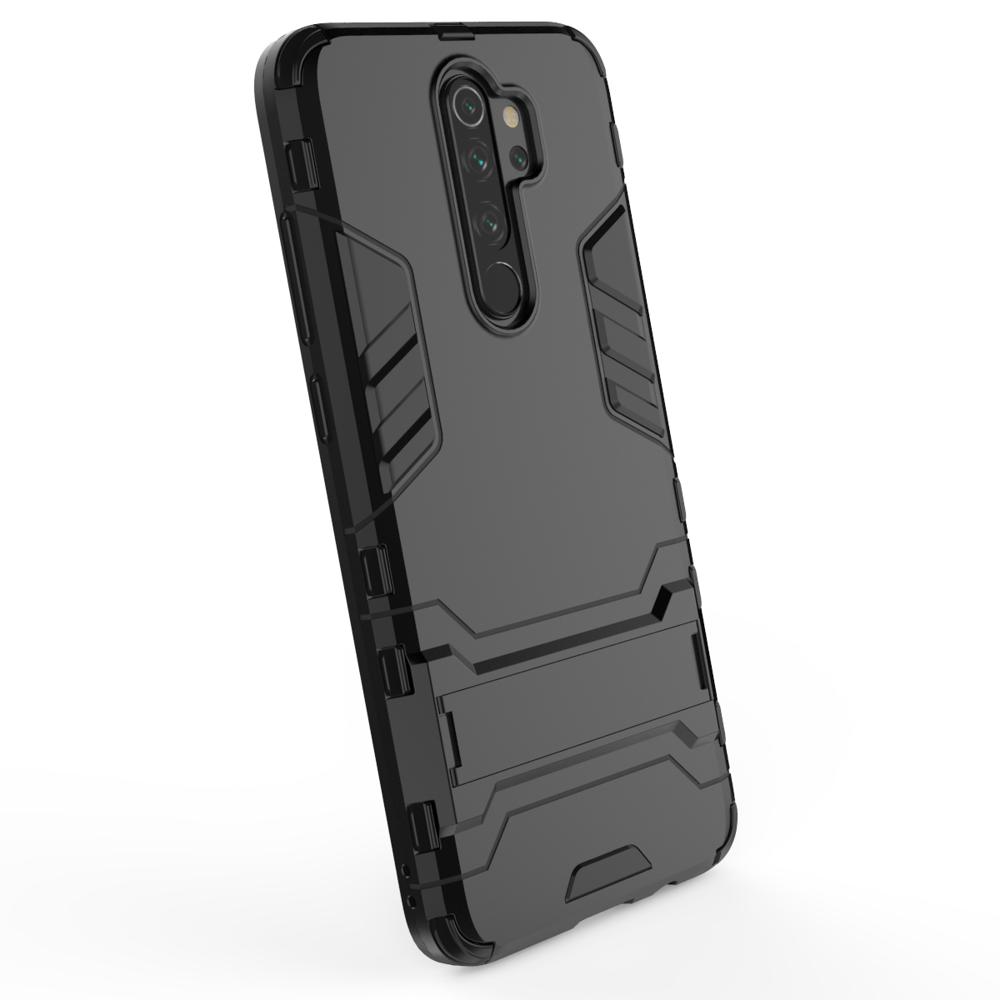 Hybrid pancéřové polykarbonátové pouzdro se stojánkem na Xiaomi Redmi Note 8 Pro black
