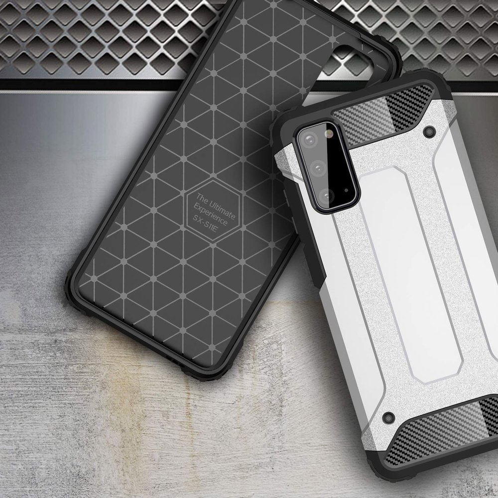 Hybrid pancéřové polykarbonátové pouzdro na Samsung Galaxy A41 golden