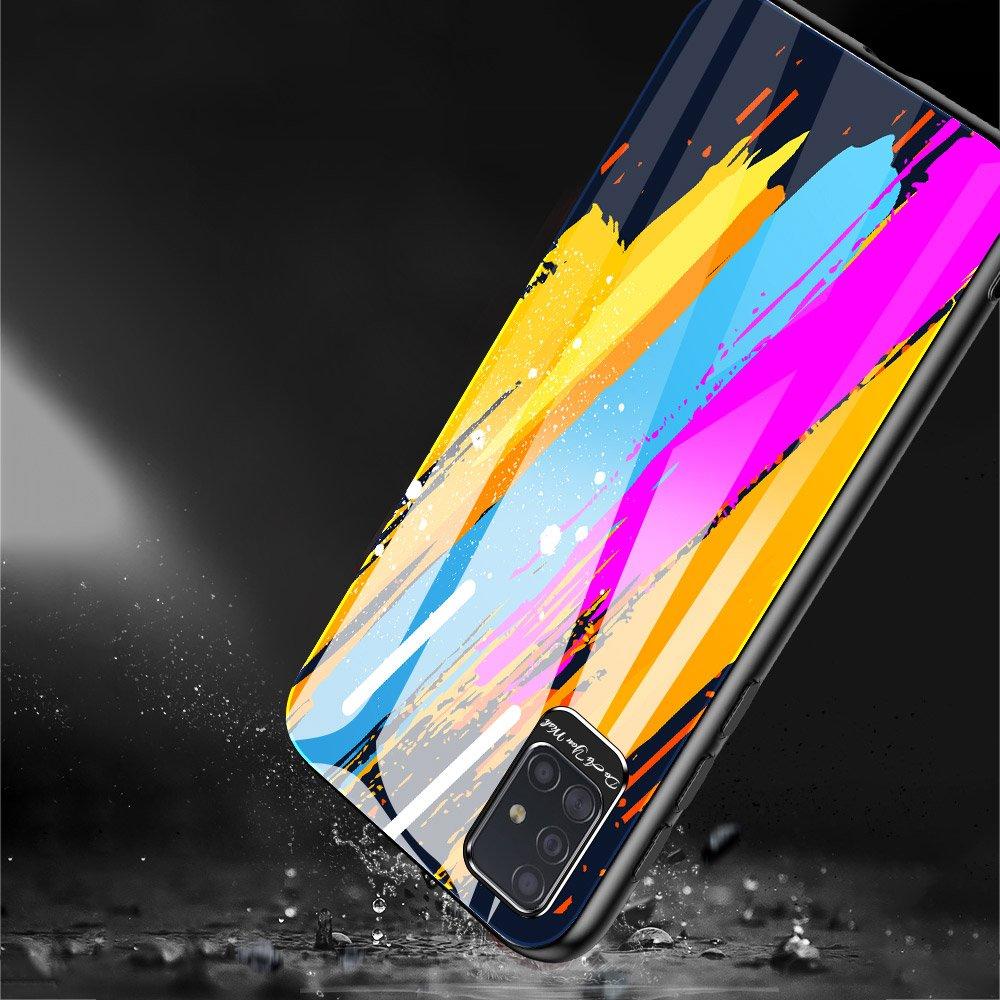 Color Glass kryt z tvrzeného skla 9H na Samsung Galaxy A51 vzor 1