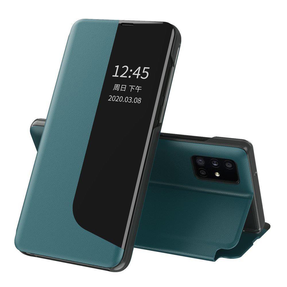 Knížkové puzdro s imitáciou kože pre Huawei P40 Lite E green