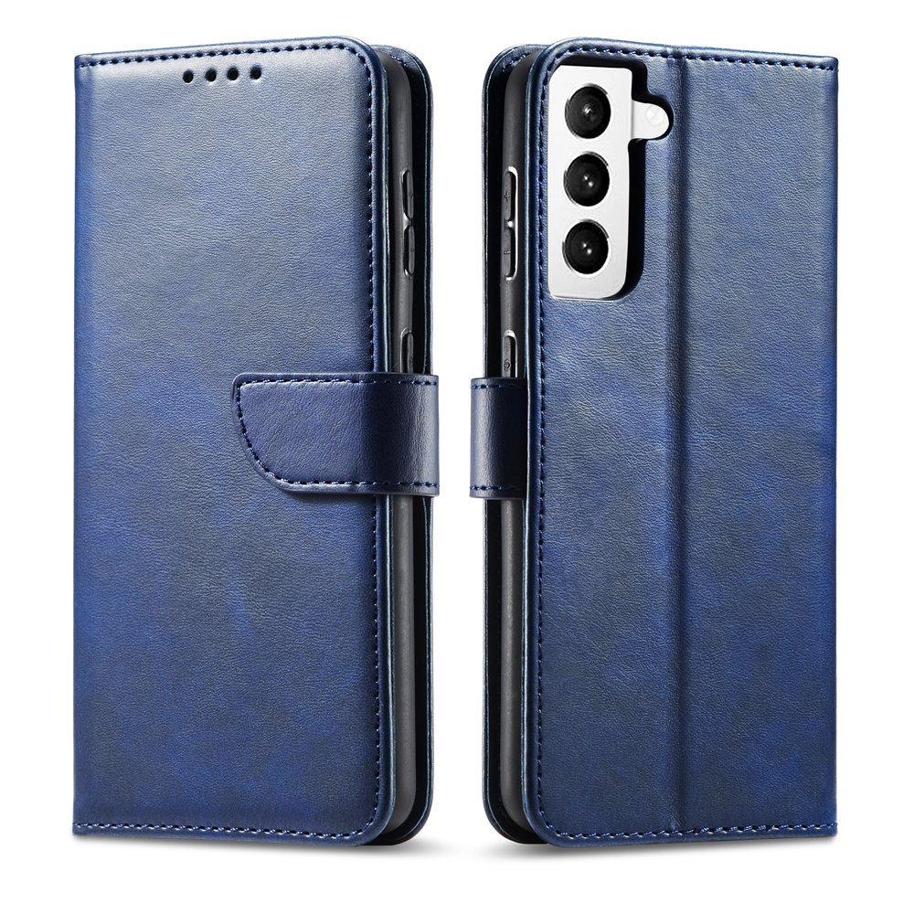 Magnet Case elegantní knížkové pouzdro na Samsung Galaxy S21 5G blue