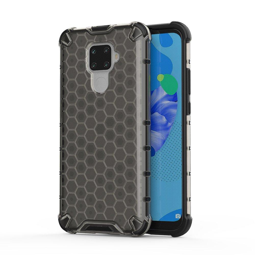 Honeycomb pancéřové pouzdro se silikonovým rámem pro Huawei Mate 30 Lite / Huawei Nova 5i Pro black