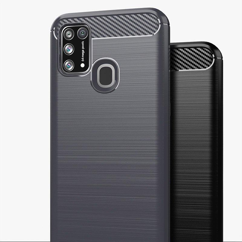 Carbon silikonové pouzdro na Samsung Galaxy M21 blue