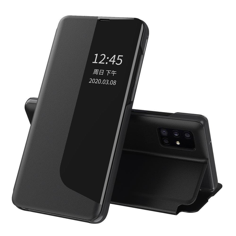 Knížkové puzdro s imitáciou kože pre Huawei Y6p black