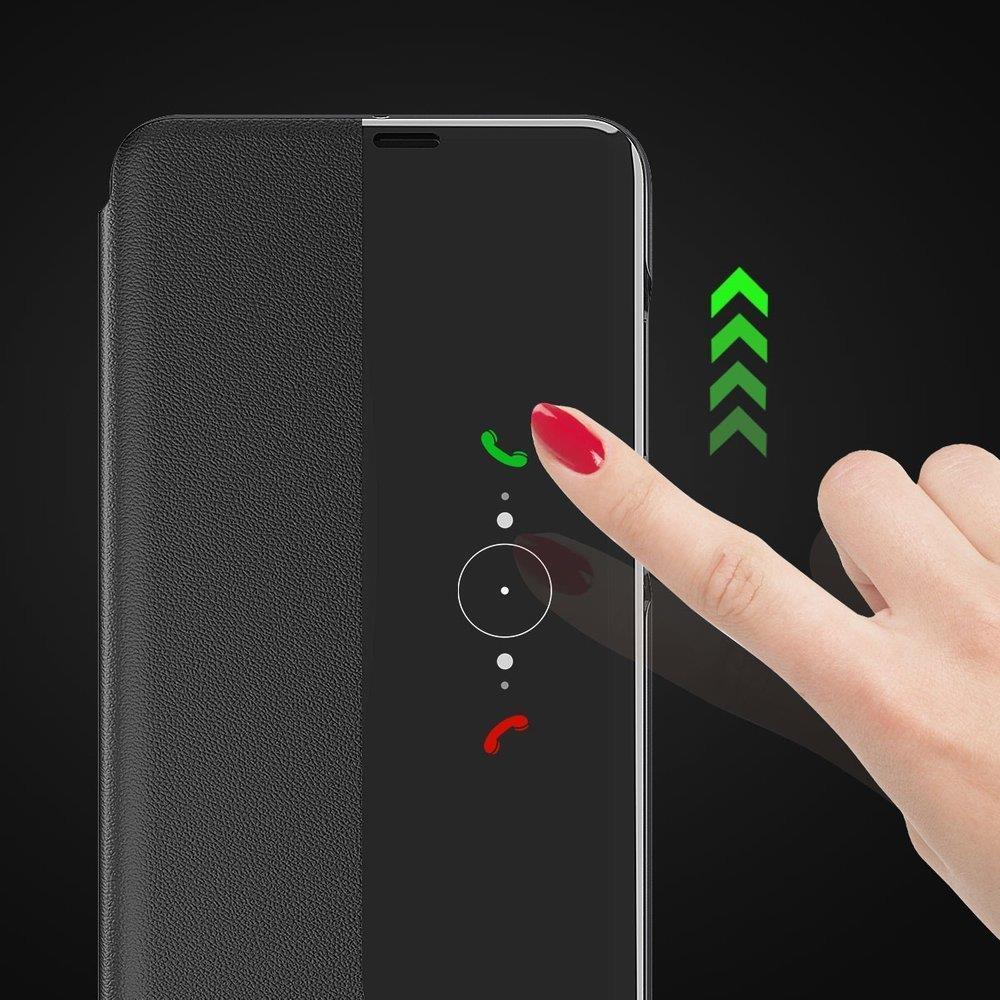 Knížkové pouzdro s imitací kůže na Huawei Y6p / Honor 9A black