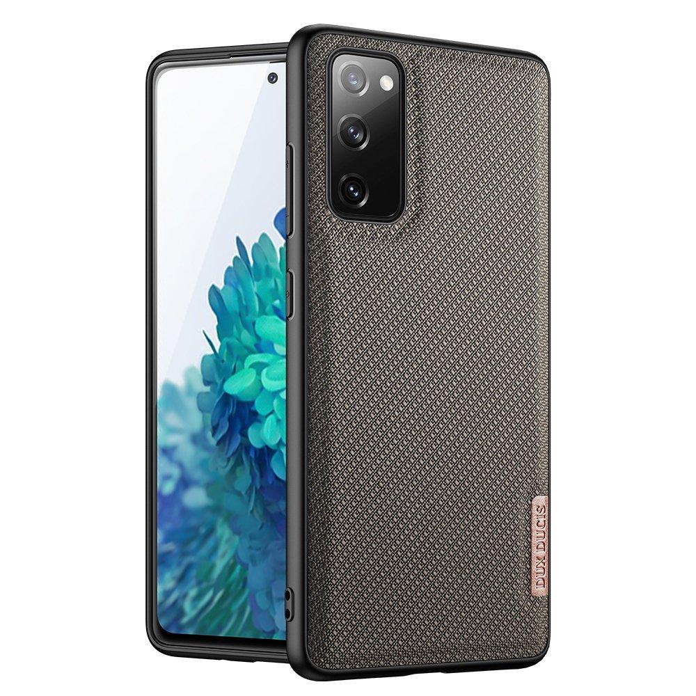 Luxusní pouzdro Dux Ducis Fino Nylon ,  Samsung Galaxy S20 FE 5G , zelená 6934913055892