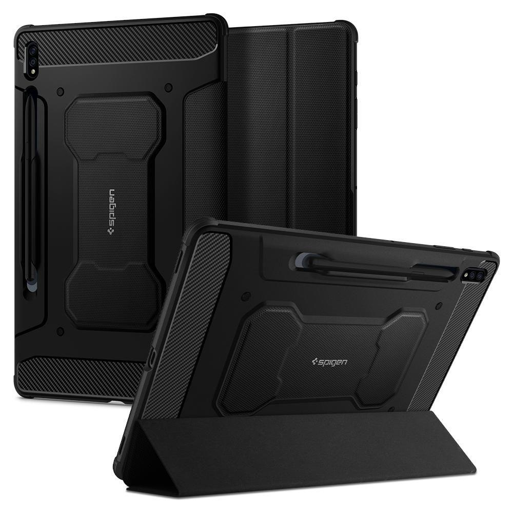 "Spigen Rugged Armor ""Pro"" Galaxy Tab S7+ Plus 12.4 T970/T976 Black 8809710755864"