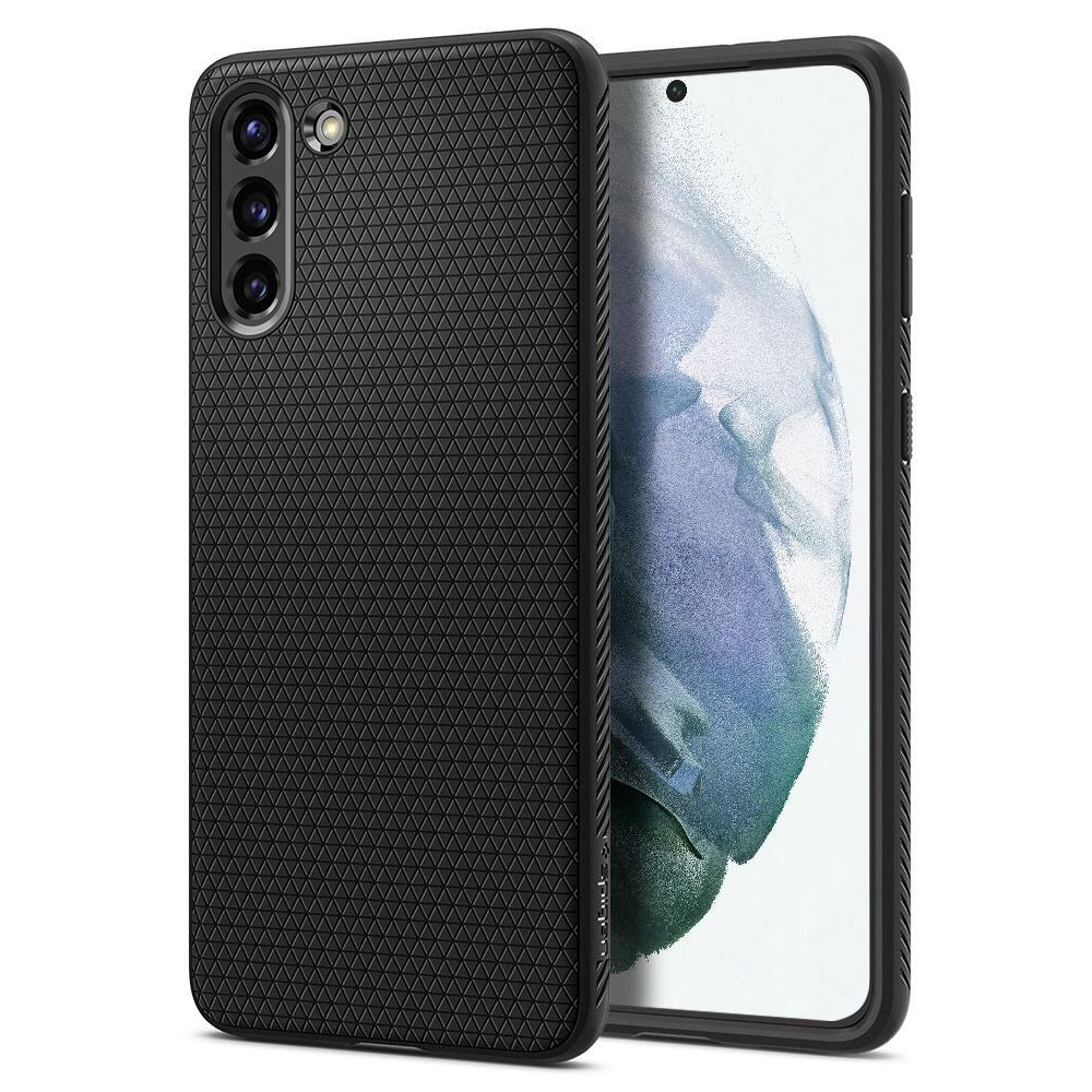 Spigen Liquid Air silikonové pouzdro na Samsung Galaxy S21 Matte Black
