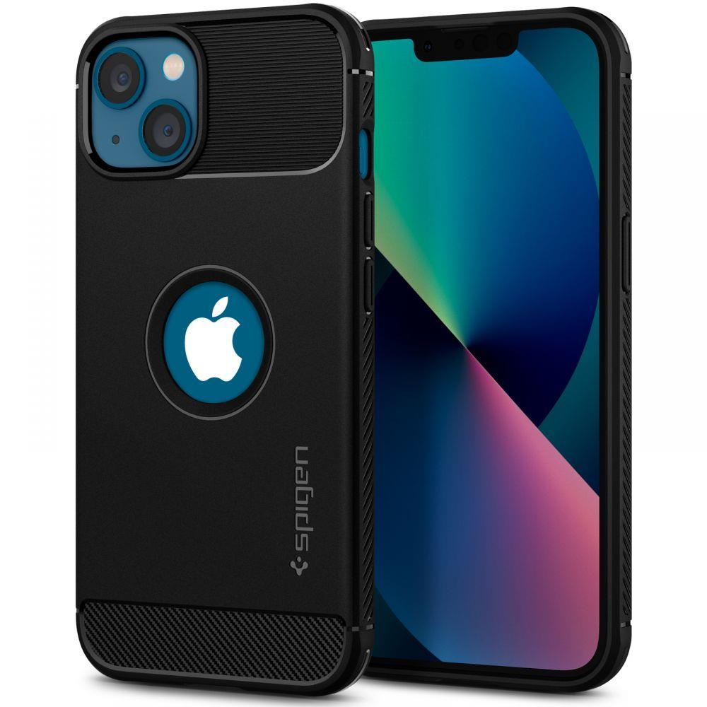 "Spigen Rugged Armor silikónové puzdro preiPhone 13 Mini 5.4"" Matte black"
