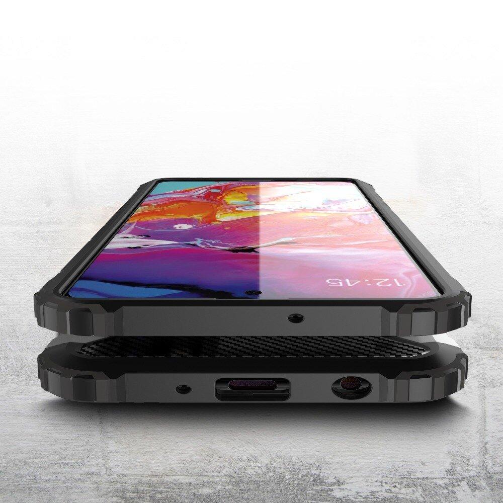Hybrid pancéřové polykarbonátové pouzdro na Samsung Galaxy A71 Silver