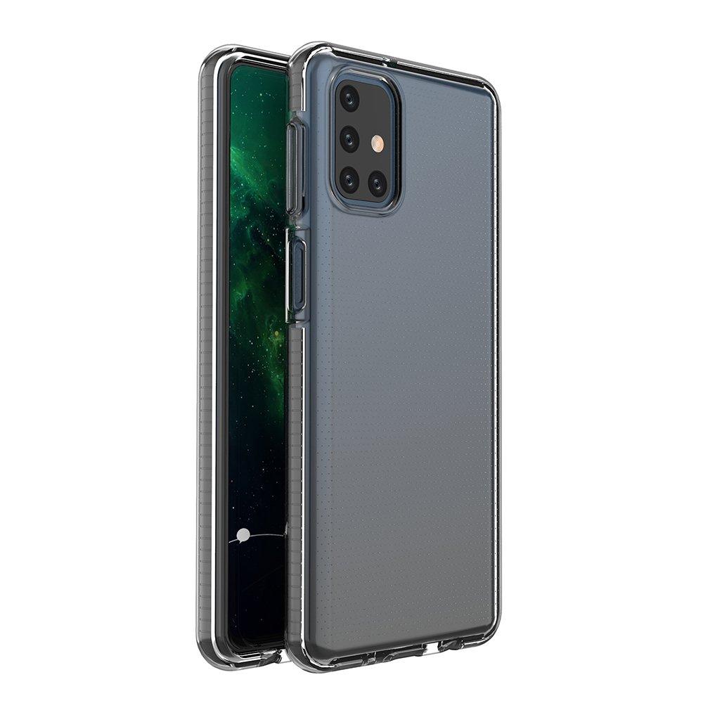 Spring silikónové puzdro s farebným lemom pre Samsung Galaxy M51 black