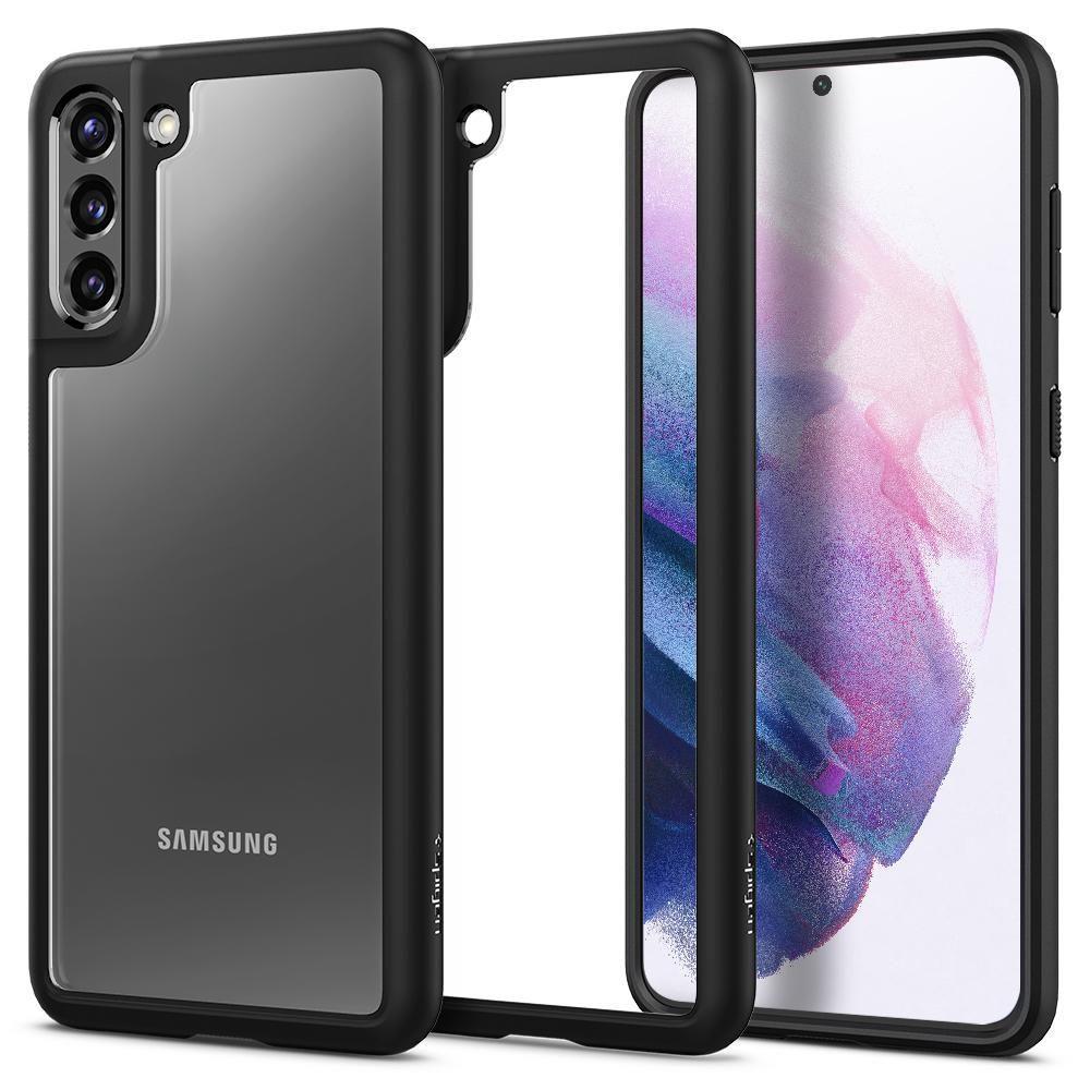 Spigen Ultra Hybrid pouzdro na Samsung Galaxy S21 PLUS Matte Black