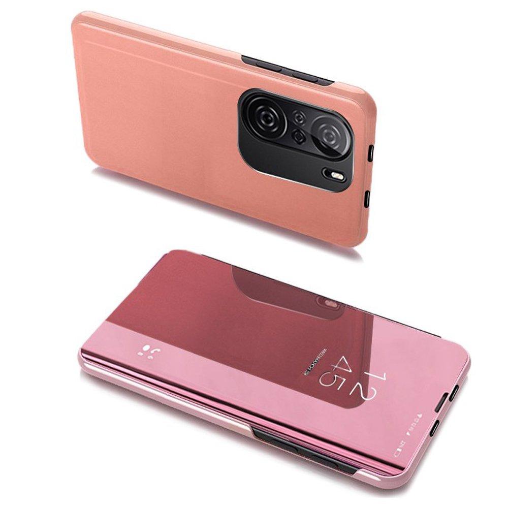 flipové pouzdro Clear View pro Xiaomi Redmi K40 Pro+ / K40 Pro / K40 / Poco F3 , růžová 9111201930452