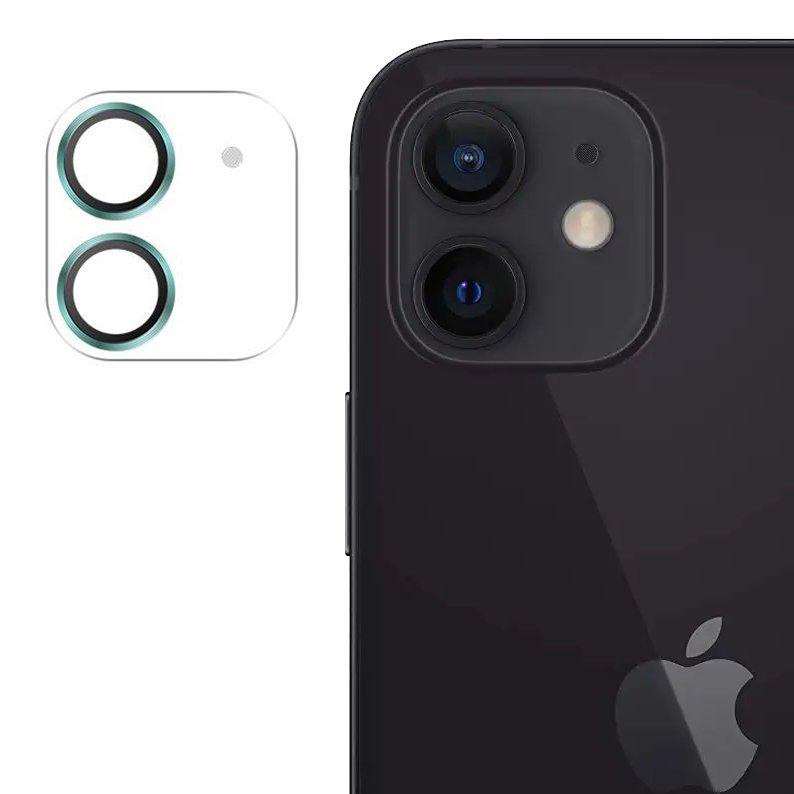 """Joyroom JR-PF687 štýlové ochranné sklo na celý fotoaparát iPhone 12 6,1"""" light green"""